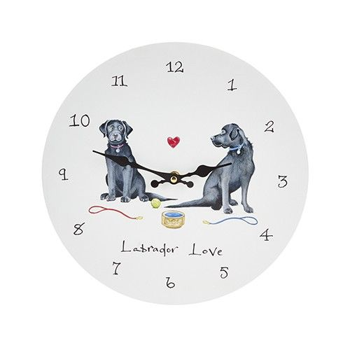 At Home In The Country Wall Clock - Labrador Love