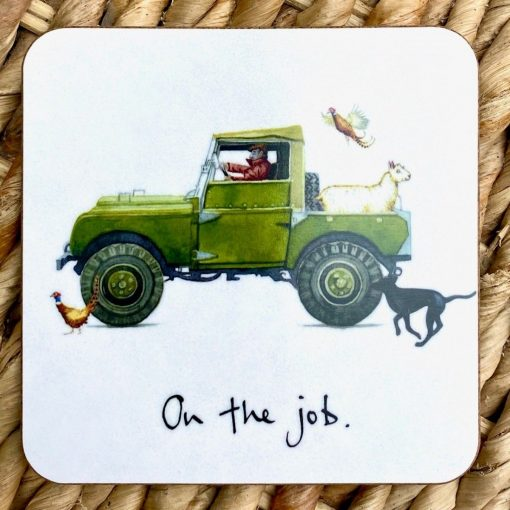 At Home In The Country Coaster - On The Job