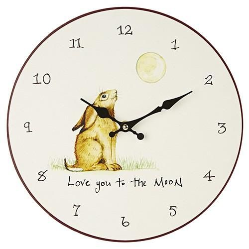 At Home In The Country Wall Clock - Love You To The Moon