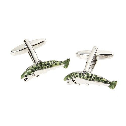 At Home In The Country Cufflinks - Fish
