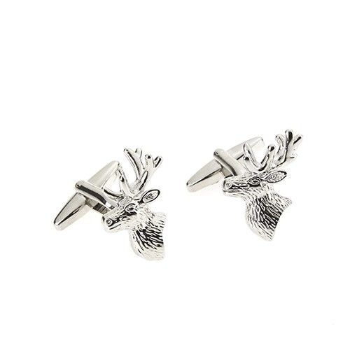 At Home In The Country Cufflinks - Stag's Head