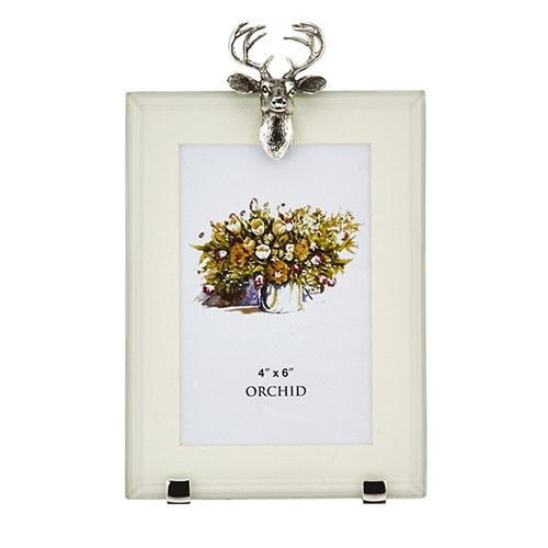 At Home In The Country Rectangle Photo Frame - Stag