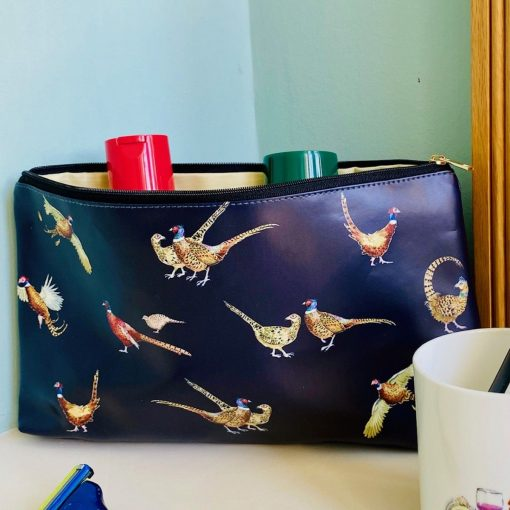 At Home In The Country Wash Bags - Pheasants