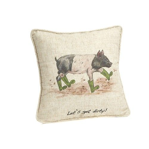At Home In The Country Cushion - Let's Get Dirty!