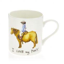 At Home In The Country Fine Bone China Mug - I Love My Pony