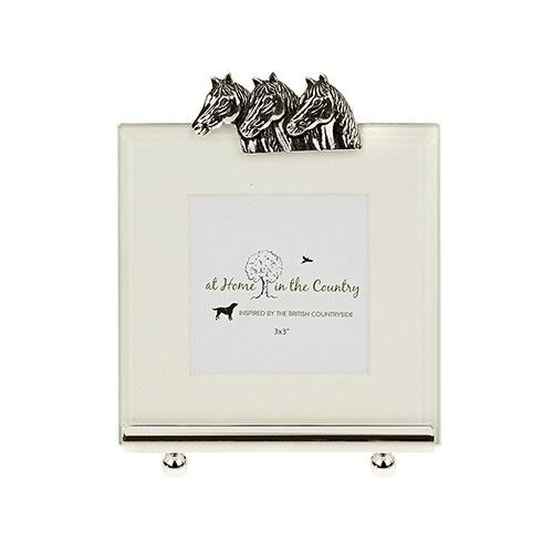 At Home In The Country Photo Frame - Horse Heads