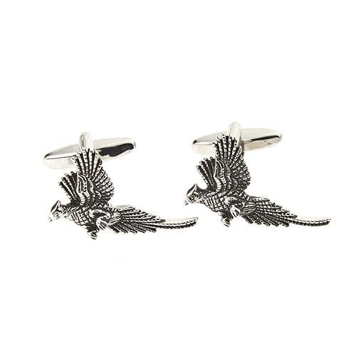 At Home In The Country Cufflinks - Flying Pheasants