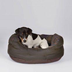 Barbour Wax / Cotton Dog Bed - Classic Tartan