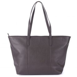 Barbour Witford Leather Tote - Dark Brown