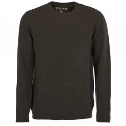Barbour Essential Lambswool Crew Neck - Seaweed