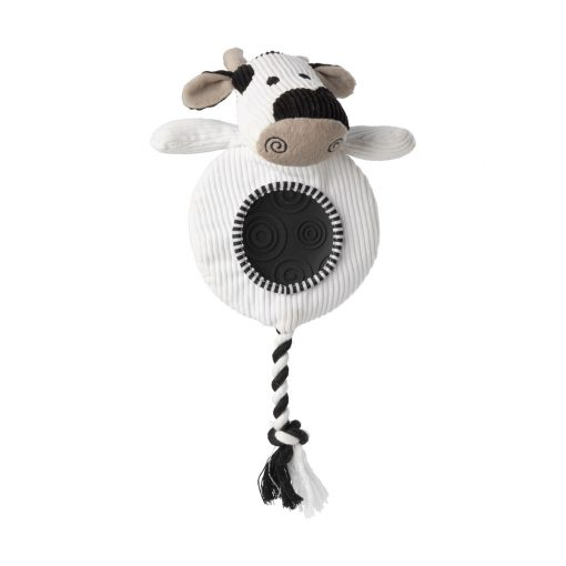 House of Paws Flatty Cord Toy - Cow