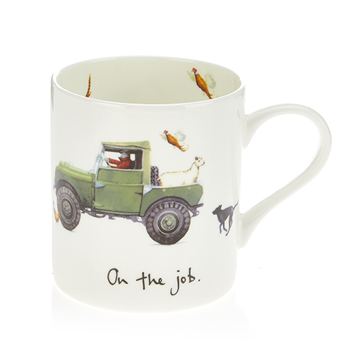 At Home In The Country Fine Bone China Mug - On The Job