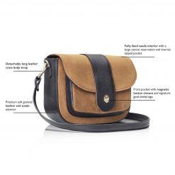 Fairfax & Favor The Highcliffe Saddle Bag - Tan