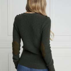 Holland Cooper Country Crew Neck Knit - Forest Marl