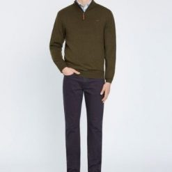 R.M Williams Ernest Sweater - Olive