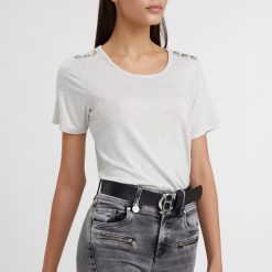 Holland Cooper Relax Fit Crew Neck Tee - Ice Marl