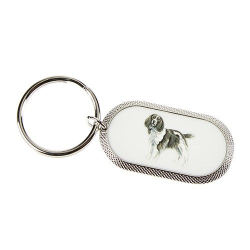 At Home In The Country Keyring - Springer Spaniel