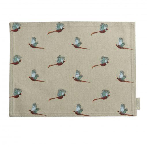 Sophie Allport Fabric Placemat - Pheasant