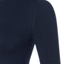Holland Cooper Buttoned Knit Crew Neck - Ink Navy