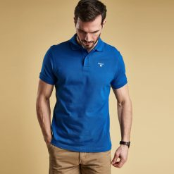 Barbour Sports Polo Shirt - Atlantic Blue
