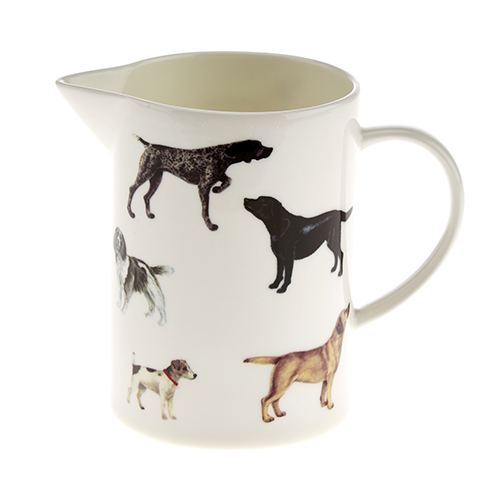 At Home In The Country Milk Jug - Dog Print