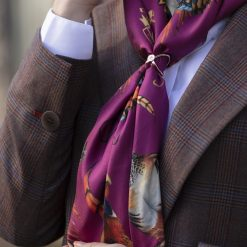 Clare Haggas Best in Show Classic Silk Scarf - Mulberry