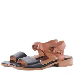 Barbour Lucy Sandals - Tan / Black