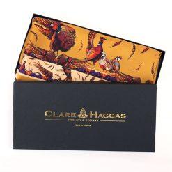 Clare Haggas George & Friends Narrow Silk Scarf - Gold