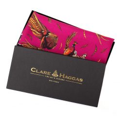 Clare Haggas George & Friends Narrow Silk Scarf - Magenta