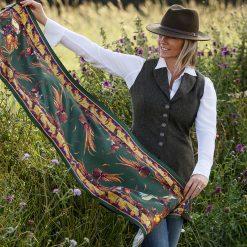 Clare Haggas George & Friends Classic Silk Scarf - Khaki