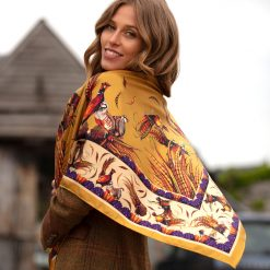 Clare Haggas George & Friends Large Silk Scarf - Gold