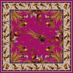 Clare Haggas George & Friends Large Silk Scarf - Magenta