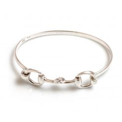 Hiho Exclusive Sterling Silver Double Snaffle Bracelet (20cm)