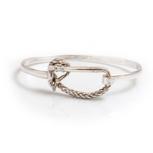 Hiho Exclusive Sterling Silver Riding Whip Bangle
