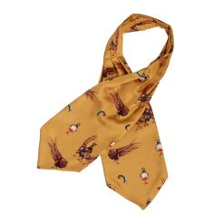 Clare Haggas Here Come The Girls Silk Cravat - Gold