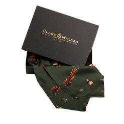 Clare Haggas Here Come The Girls Silk Cravat - Khaki