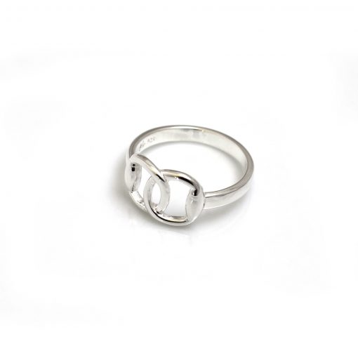 Hiho Sterling Silver Snaffle Ring