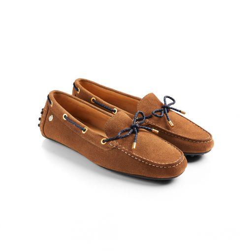 Fairfax & Favor The Henley Driving Shoe - Tan & Navy