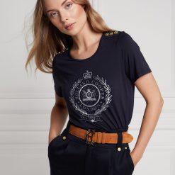 Holland Cooper Ornate Crest Tee - Ink Navy