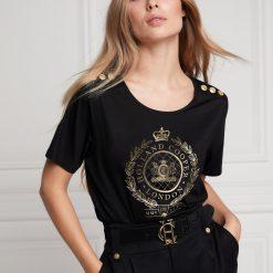 Holland Cooper Ornate Crest Tee - Black