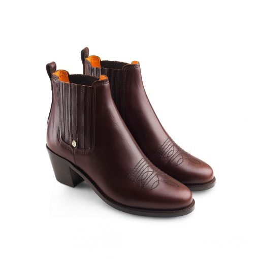 Fairfax & Favor The Rockingham Leather Ankle Boot - Mahogany