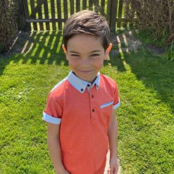 Little Lord & Lady Harlech Polo - Orange / Coral