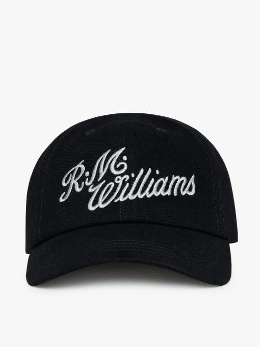 R.M Williams Script Cap - Black / Silver
