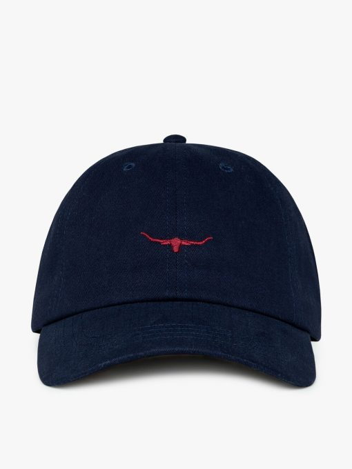 R.M Williams Mini Longhorn Cap - Navy / Red