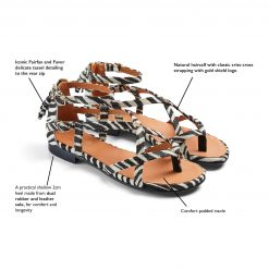 Fairfax & Favor The Brancaster Sandal - Zebra Haircalf