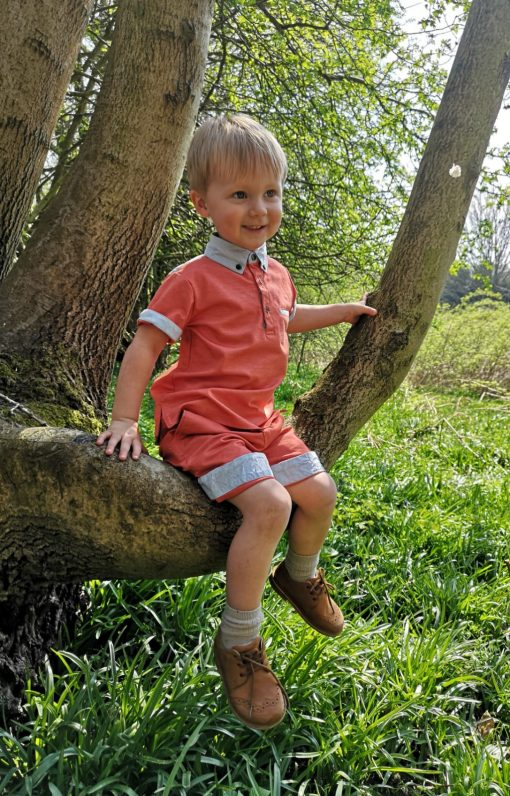 Little Lord & Lady Harlech Shorts - Orange / Coral