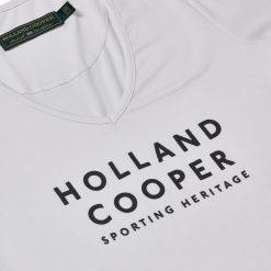Holland Cooper Serif Vee Tee - White