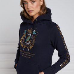Holland Cooper Sporting Crest Hoodie - Ink Navy