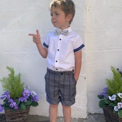 Little Lord & Lady Piper Shirt & Bow Tie - White