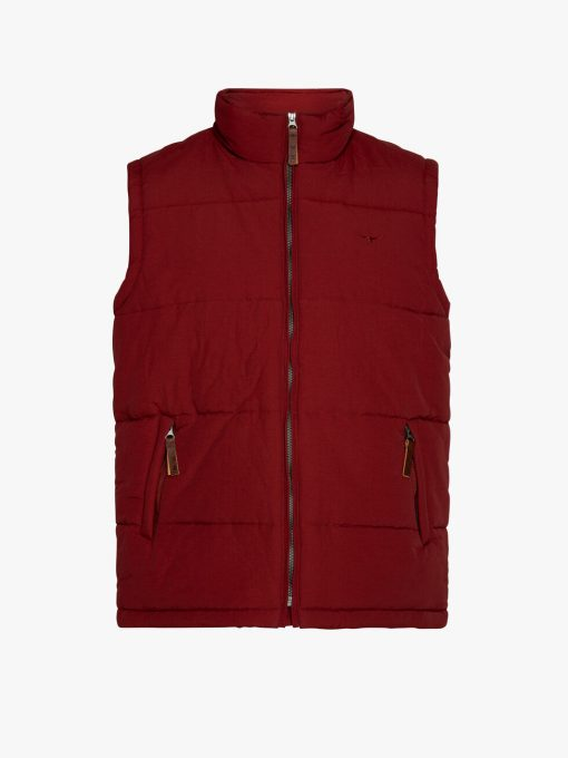 R.M Williams Patterson Creek Vest - Oxblood